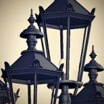 Antike Außenlampen